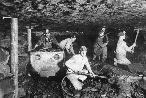 Män i gruva